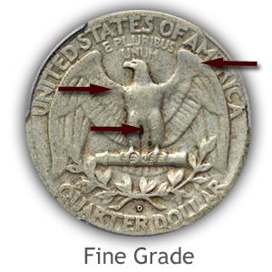 Grading Reverse Fine Condition Washington Quarter