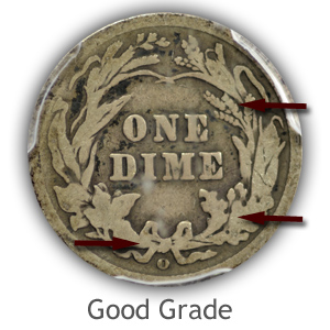 Grading Reverse Good Condition Barber Dimes