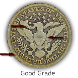 Grading Reverse Good Condition Barber Quarters