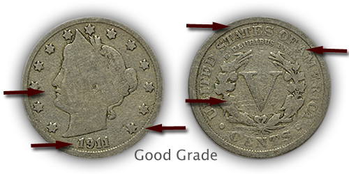 Grading Good Liberty Nickels