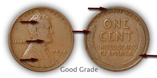 Grading Good Lincoln Wheat Penny