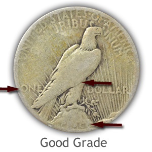Grading Reverse Good Condition Peace Silver Dollars