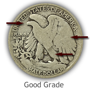 Grading Reverse Good Walking Liberty Half Dollar