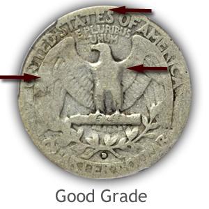 Grading Reverse Good Condition Washington Quarter