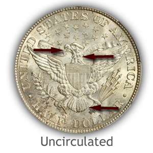 Grading Reverse Uncirculated Barber Half Dollars