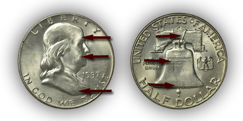 Grading Uncirculated Franklin Half Dollar