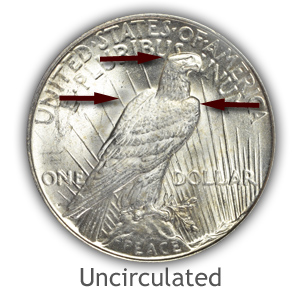 Grading Reverse Uncirculated Peace Silver Dollars