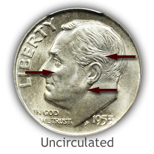 Grading Obverse Uncirculated Roosevelt Dimes