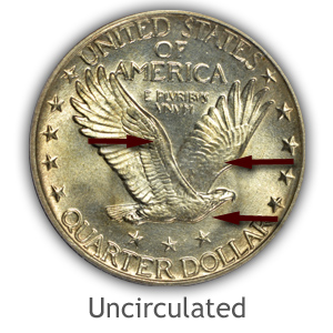 Grading Reverse Uncirculated Standing Liberty Quarters