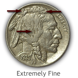 Grading Obverse Extremely Fine Buffalo Nickels
