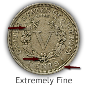 Grading Reverse Extremely Fine Liberty Nickels
