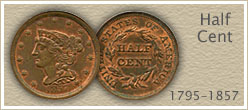 Go to...  Half Cent Coin Values