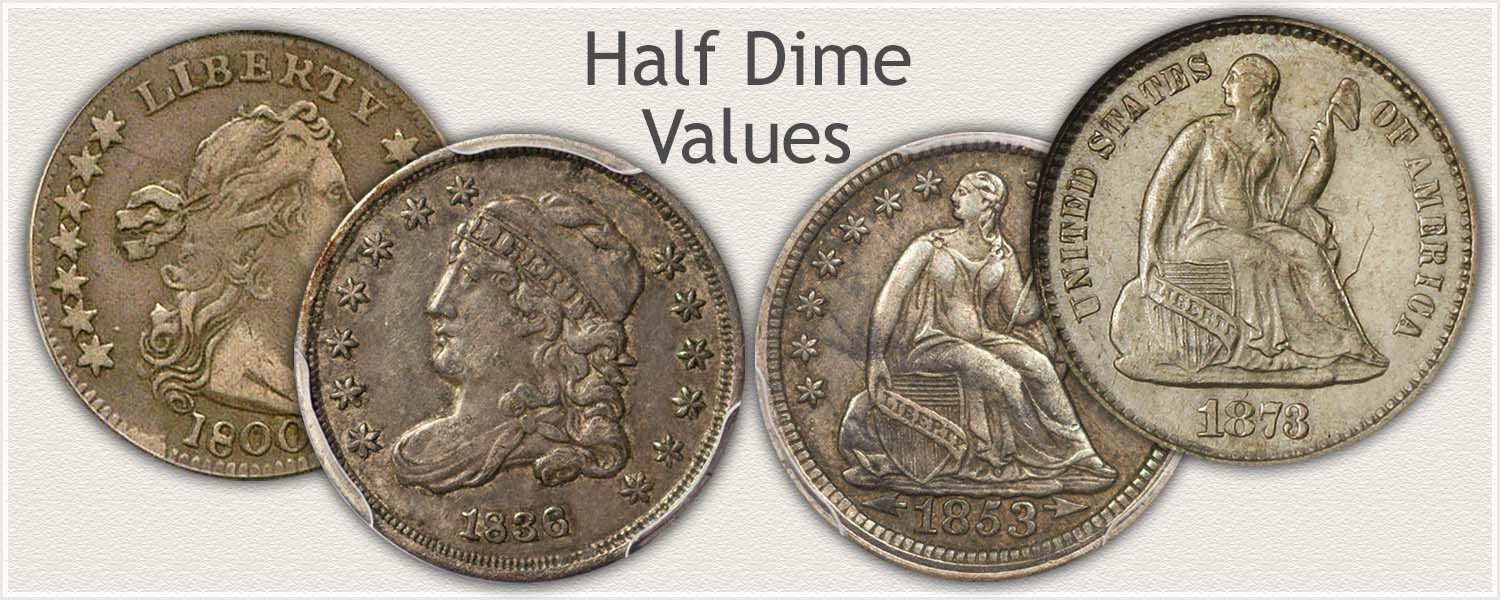 Half Dime Values for Bust and Seated Half Dimes