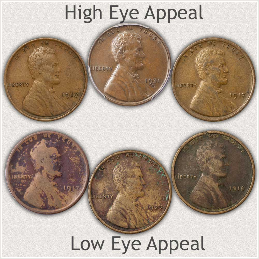 Comparing High and Low Eye Appeal Cents