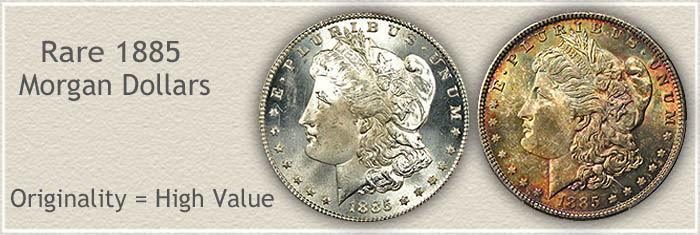 Rare 1885 Morgan Silver Dollars | Originality With High Value