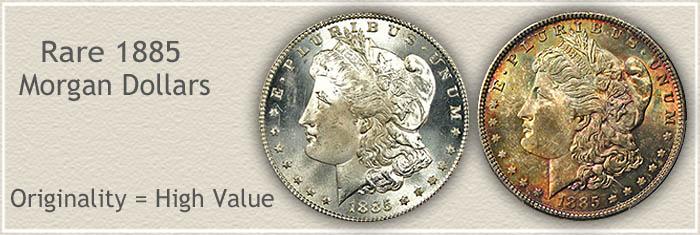 Rare 1885 Morgan Silver Dollars | Originality With High Value