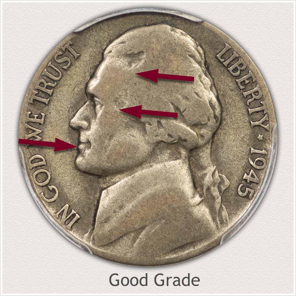 Jefferson Nickel Good Grade