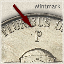 Jefferson Nickel Mintmark Location on Silver