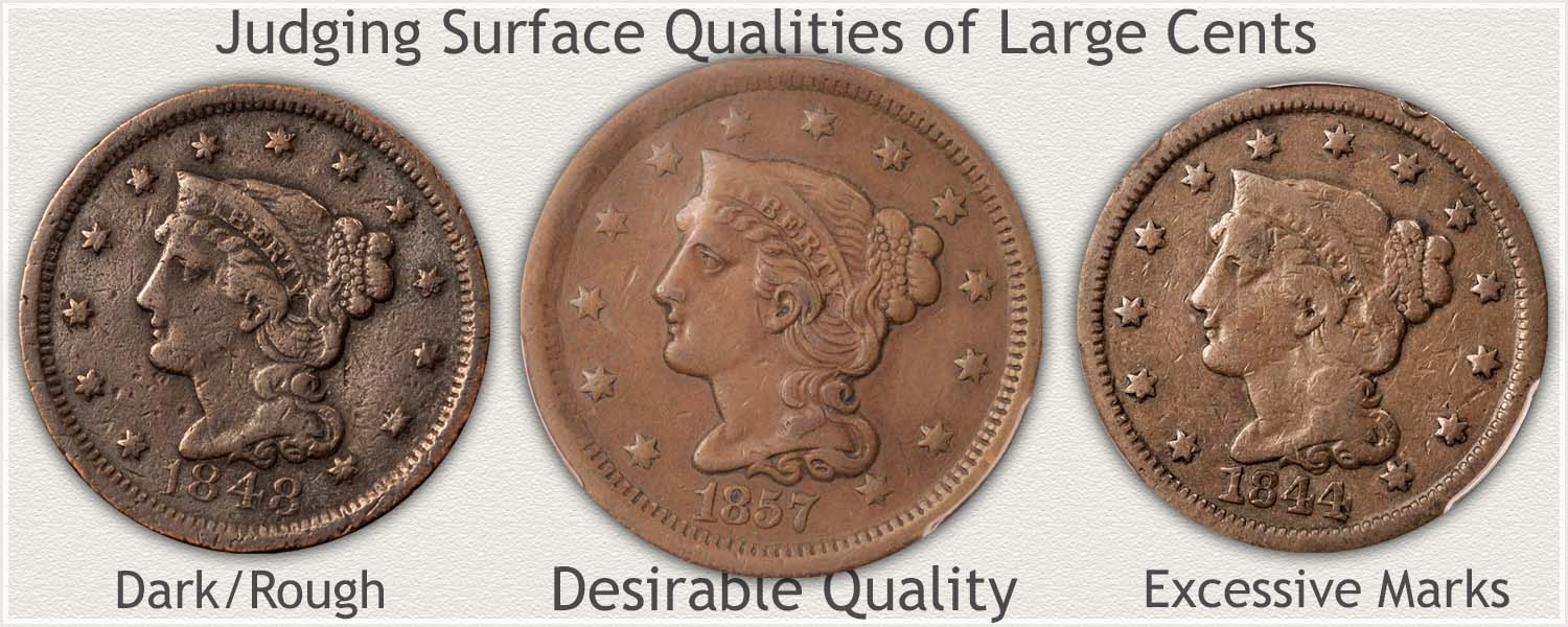 Comparing Surface Qualities of Large Cents