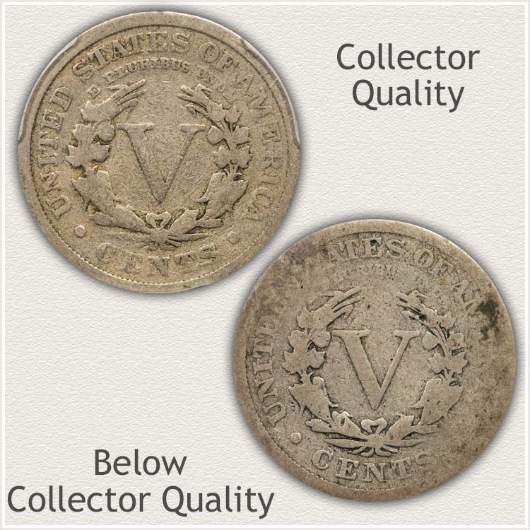 Heavily Worn Liberty Nickel Below Collector Quality
