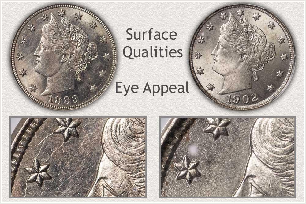 Liberty Nickel With Die Stress Cracks