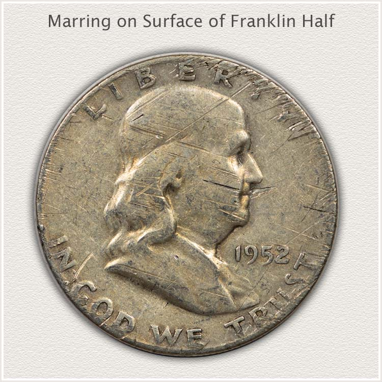 Franklin Half Dollar with Marred Surface