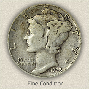 Mercury Dime Fine Condition