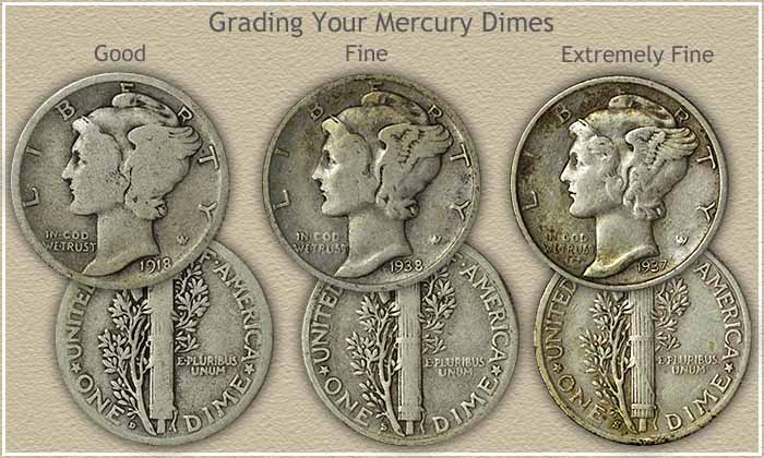 Mercury dime values are moderate to high for Mercerie nimes