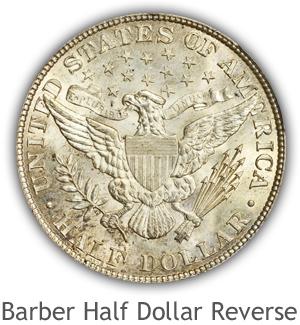 Mint State Barber Half Dollar Reverse