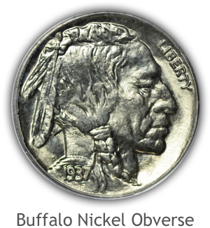 Mint State Buffalo Nickel Obverse