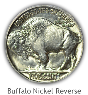 Mint State Buffalo Nickel Reverse