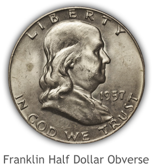 Mint State Franklin Half Dollar Obverse