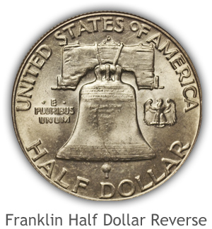 Mint State Franklin Half Dollar Reverse