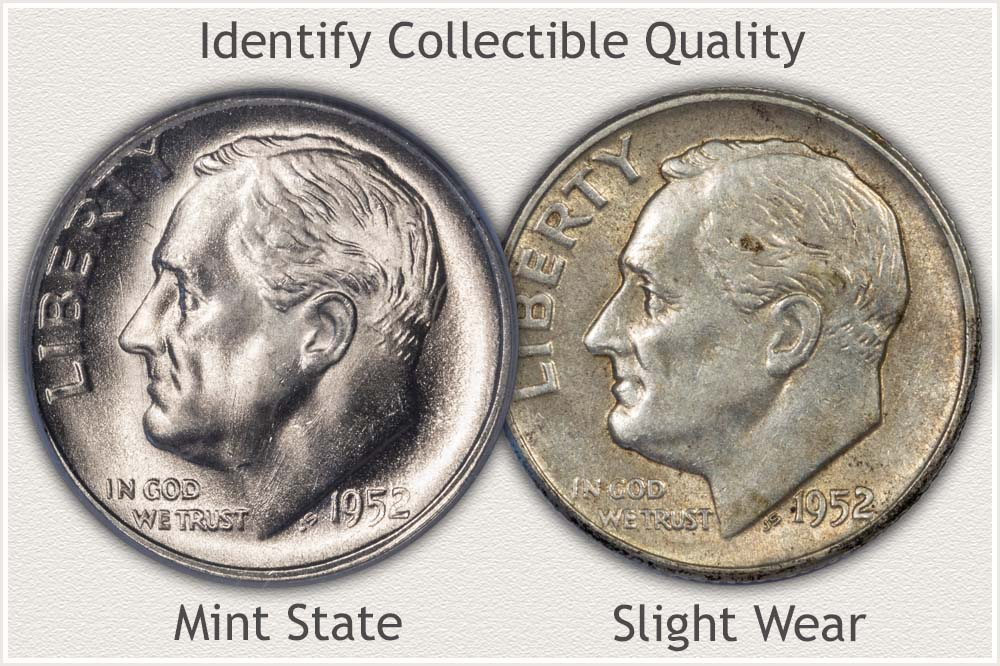 AU and Mint State Roosevelt Dimes