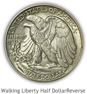 Mint State Walking Liberty Half Dollar Reverse