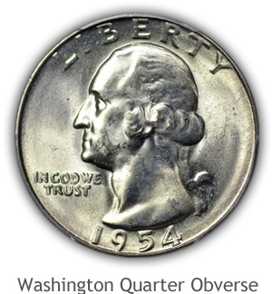 Mint State Washington Quarter Obverse