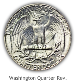 Mint State Washington Quarter Reverse