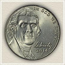 Current Jefferson Nickel Design