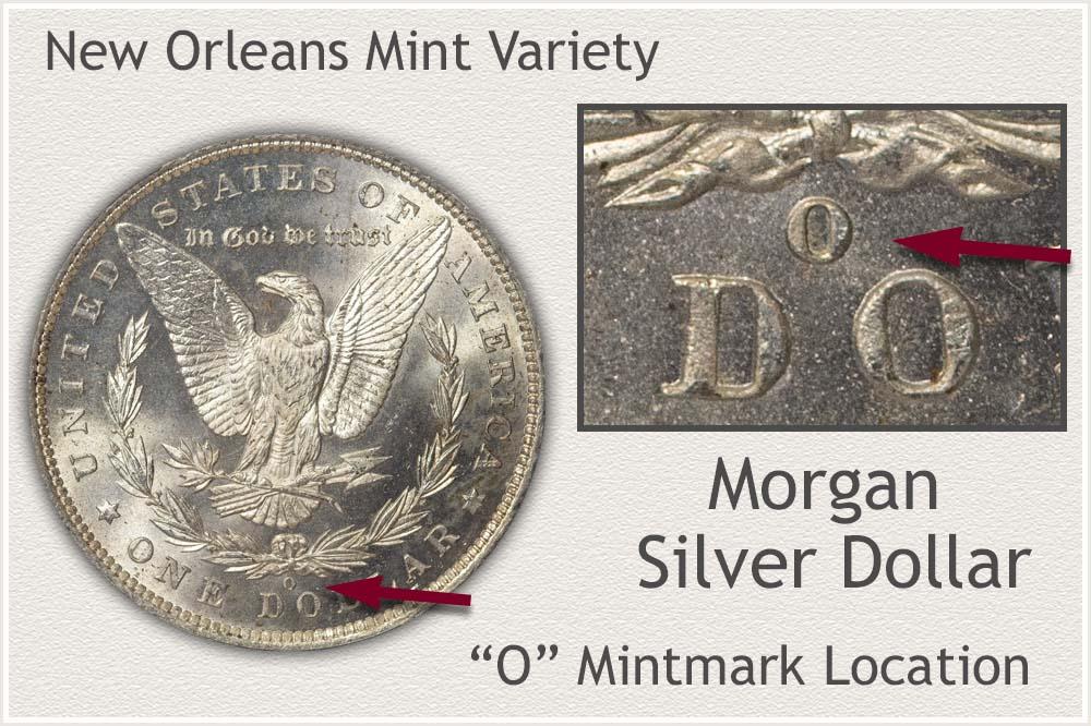 New Orleans Mint Morgan Silver Dollar Variety