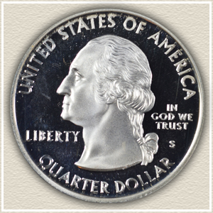 Obverse Design Washington Quarter of 1999