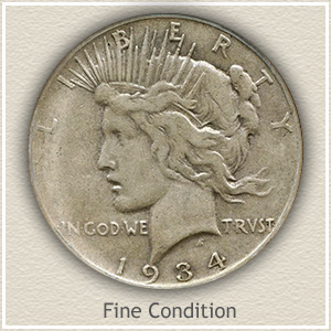 Peace Silver Dollar Fine Condition
