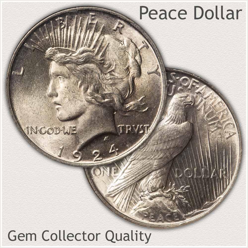 Gem Grade Peace Silver Dollar