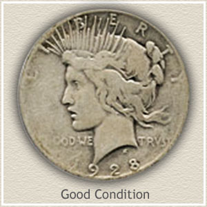 Peace Silver Dollar Good Condition