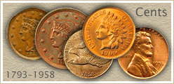 Go to... Half Cent, Large Cent and Value of an Indian Penny
