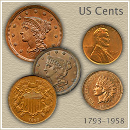 Old Penny Values | Half Cent, Large Cent, Indian Cent and Lincoln Cent