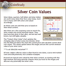 Today's up to the Minute Silver Coin Values