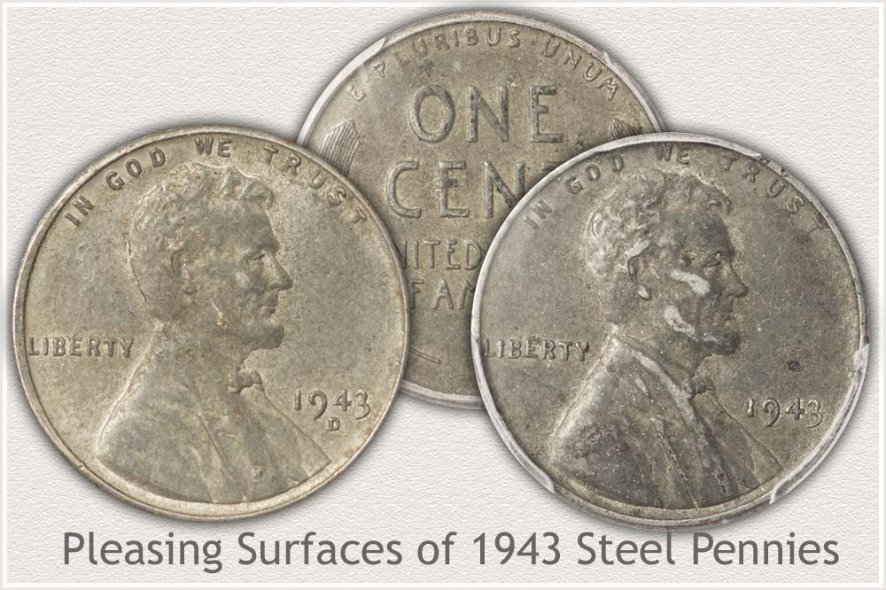 Original Surfaces on 1943 Steel Cents