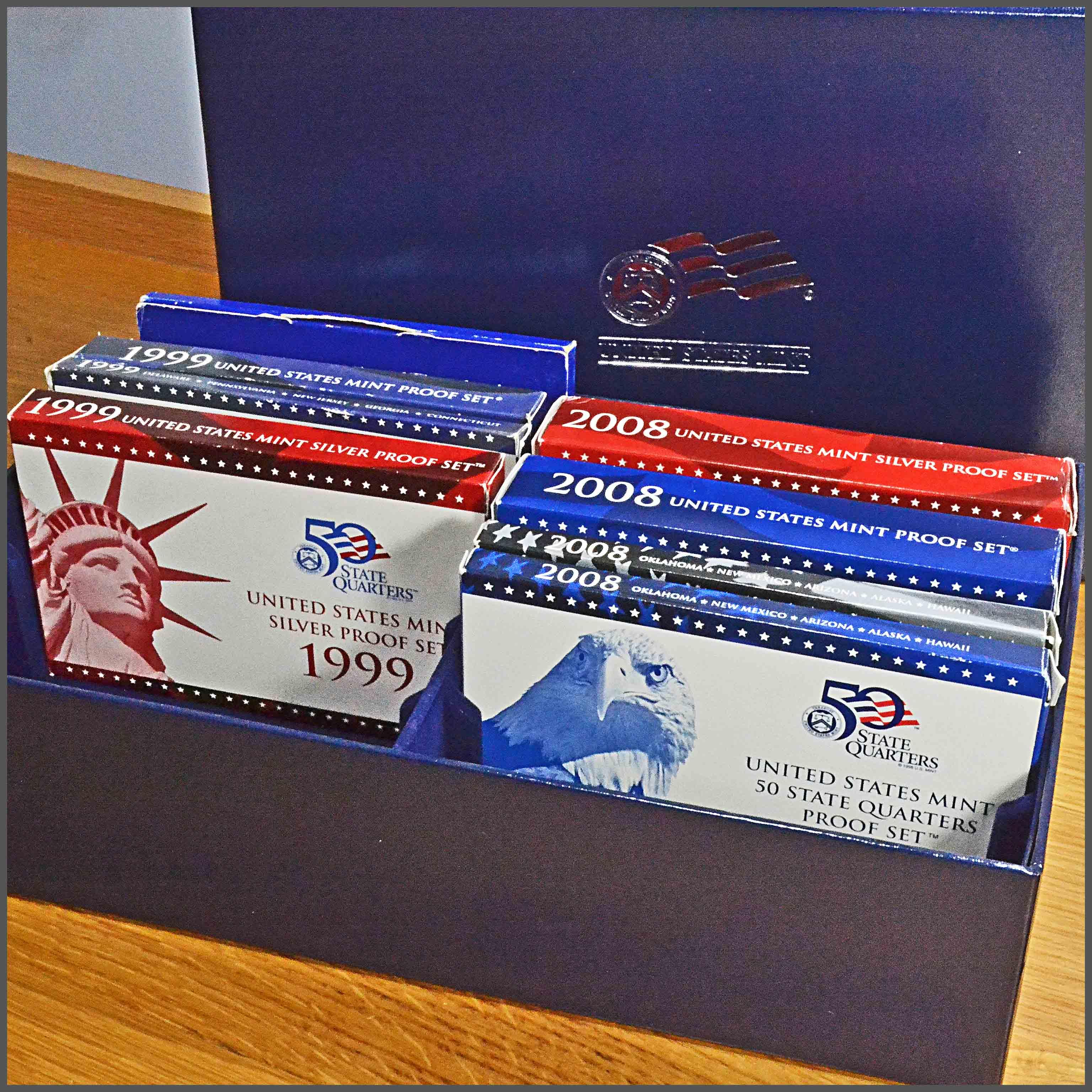 US Mint Proof Sets in Mint Box