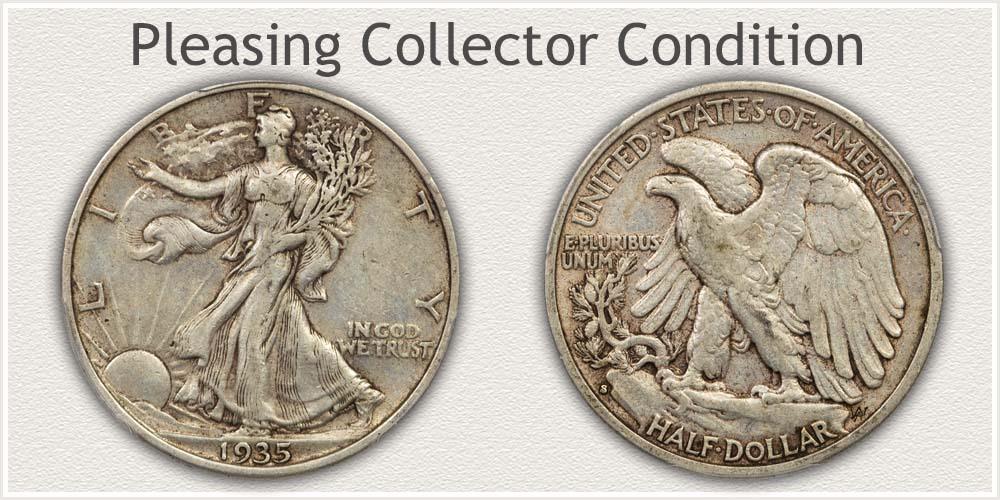 Walking Liberty Half Dollar Extremely Fine Grade