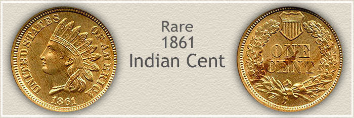 Rare 1861 Indian Penny